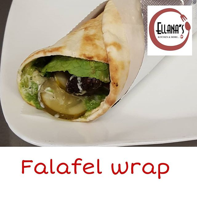 Our delicious falafel made from scratch.  Pictured in a wrap but also available in a pocket pita or as a plate.  Served with Hummus, lettuce, cucumber/tomato salad, pickles, hot sauce and tahini. 🇱🇧🇻🇪 #newtonmass #newtoncenter #mediterraneanfood #falafel #lebanesefood #bostonfoodies #bostonfoodlife #bostonfood #foodies