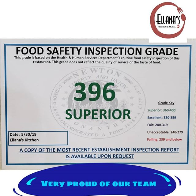Once again a great score with the town of Newton on their Food Stablishment Safety inspection.  Props to Ellana's team for the consistent great work, especially to Isabel 👏👏🎉 #newtoncenter #newtonfoodies #bostonfood #newtonmass #cityofnewton #bostonfoodies #venezuelanfood #venezolanosenboston #lebanesefood #mediterraneanfood #arepas #comidavenezolana #venezuelansinboston #greatscore
