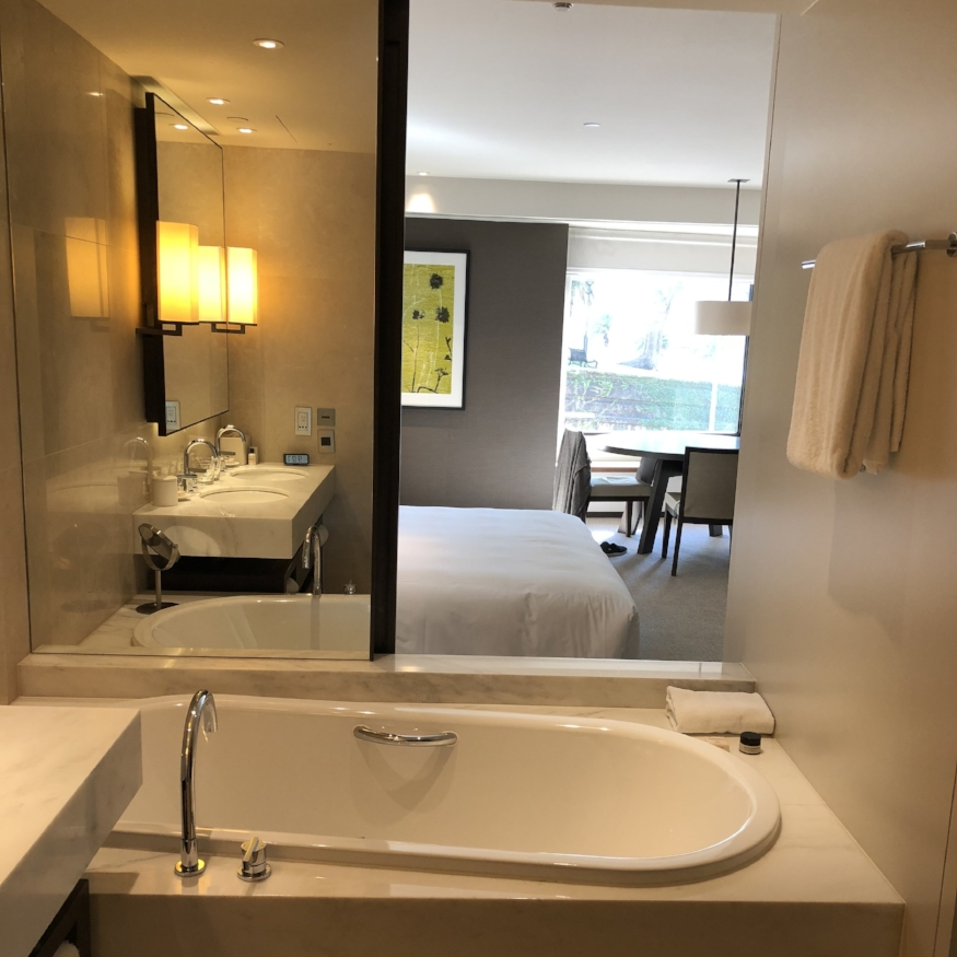 My fancy room at the Park Hyatt Sydney.  Stay here with for FREE with the Hyatt credit card.