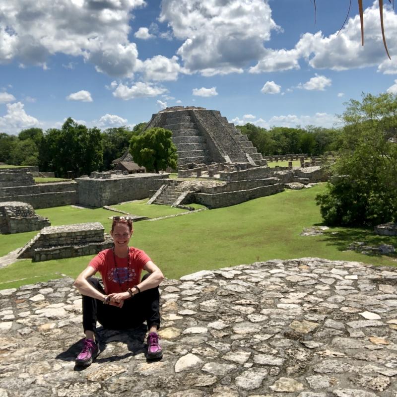 Visiting ruins at Mayapan