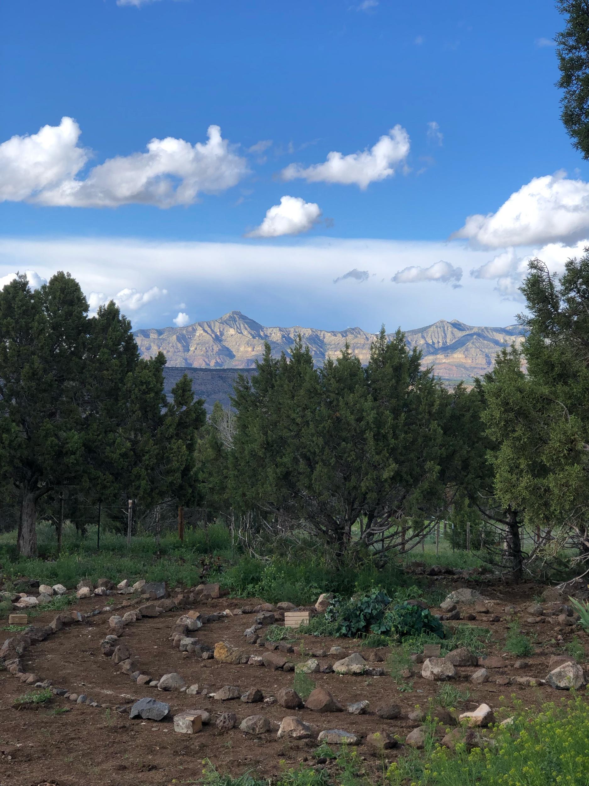 labyrinth at  six eagles haven retreat center  in mesa, colorado