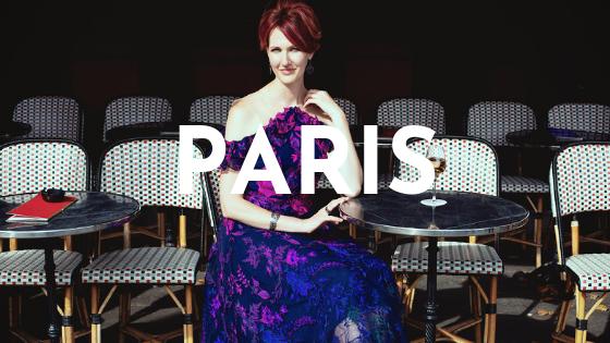 Paris - Photos: Eric Ouaknine Outfit: Marchesa via Rent the Runway Hair & Makeup: Stephane Dussart