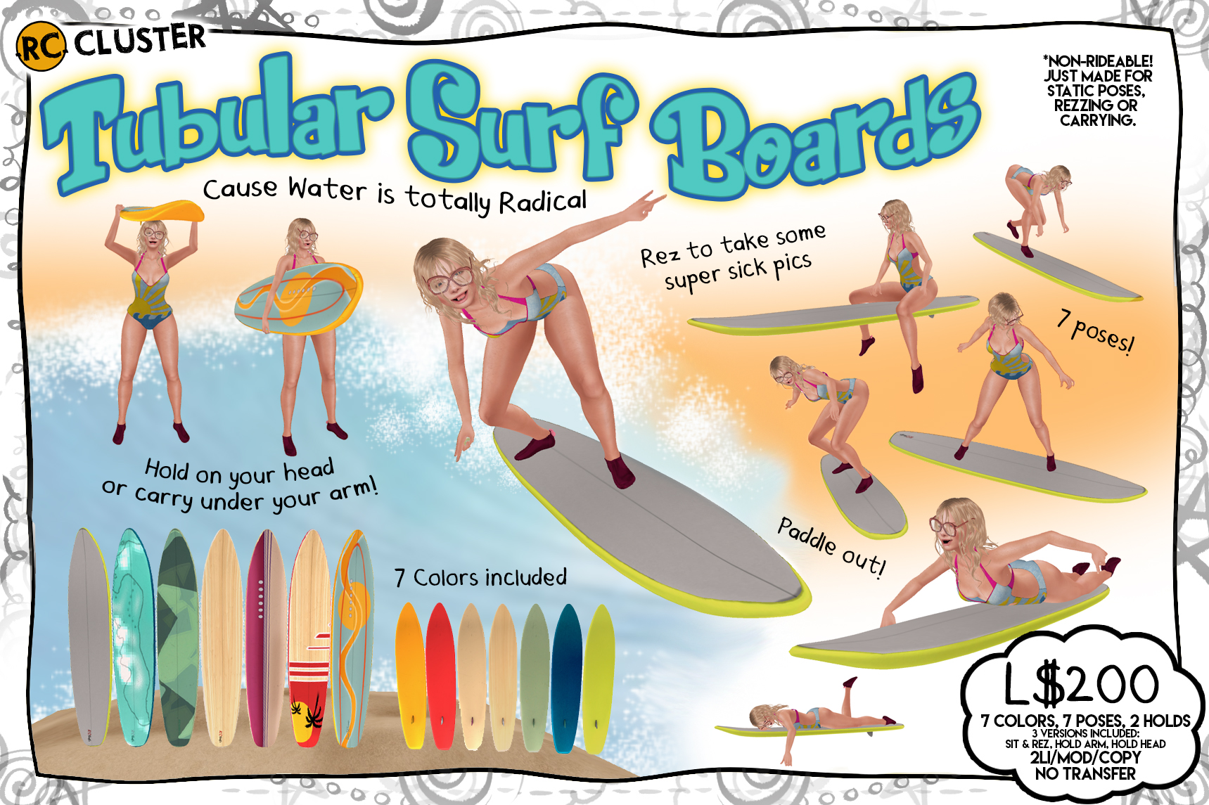 -RC- Cluster - Tubular Surf Boards