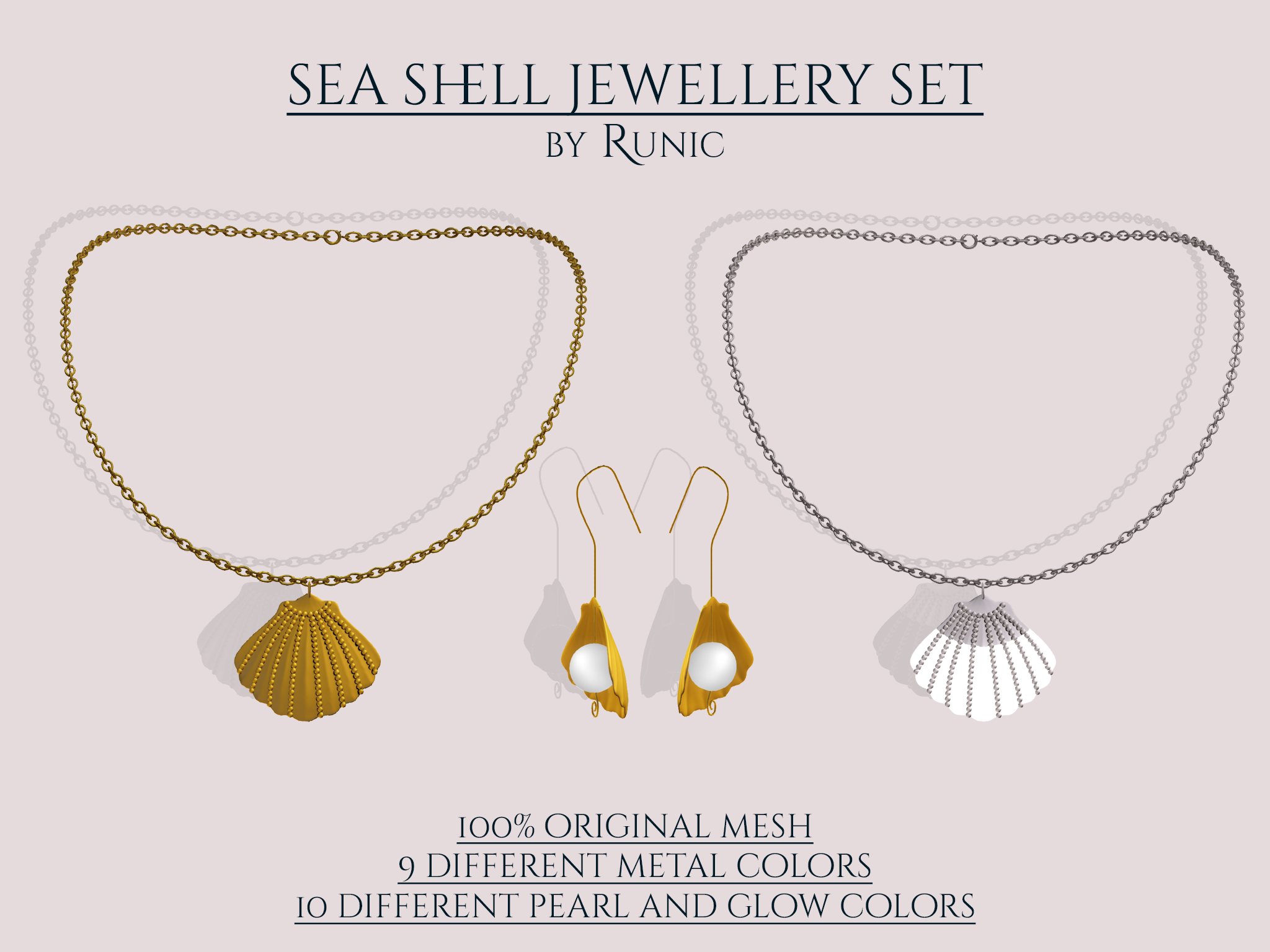 Runic - Sea Shell Jewellery Set