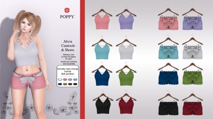 Poppy - Alicia Shorts and Camisole