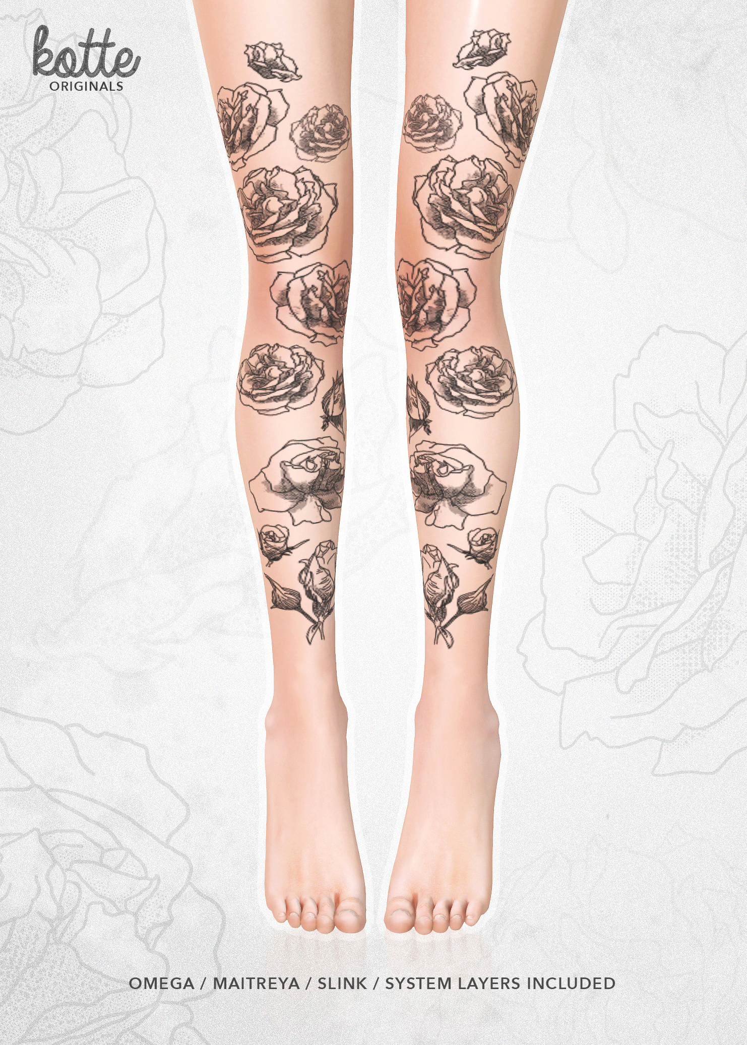 kotte - bloom tattoo black