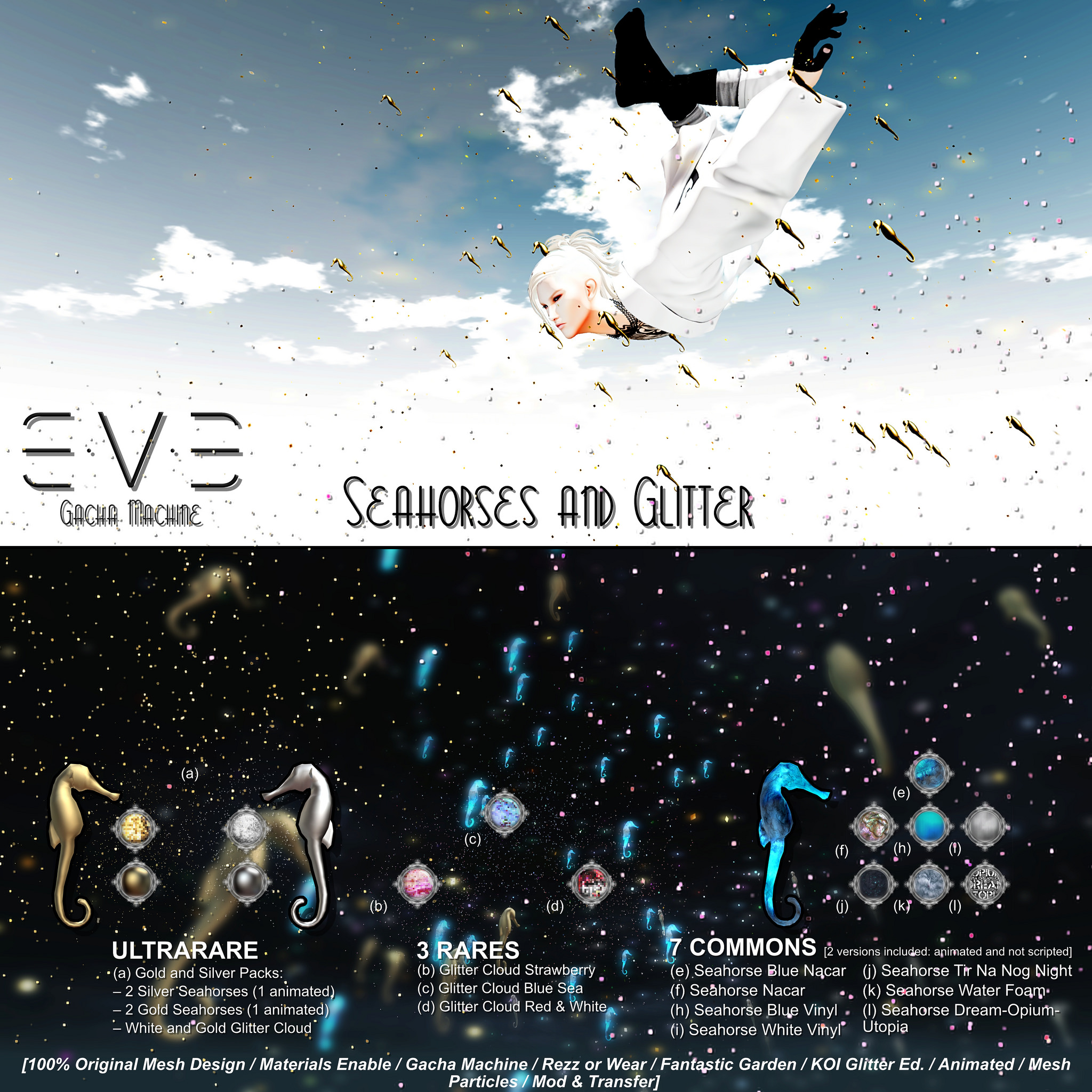 "E.V.E Gacha - ""SeaHorses and Glitter"""