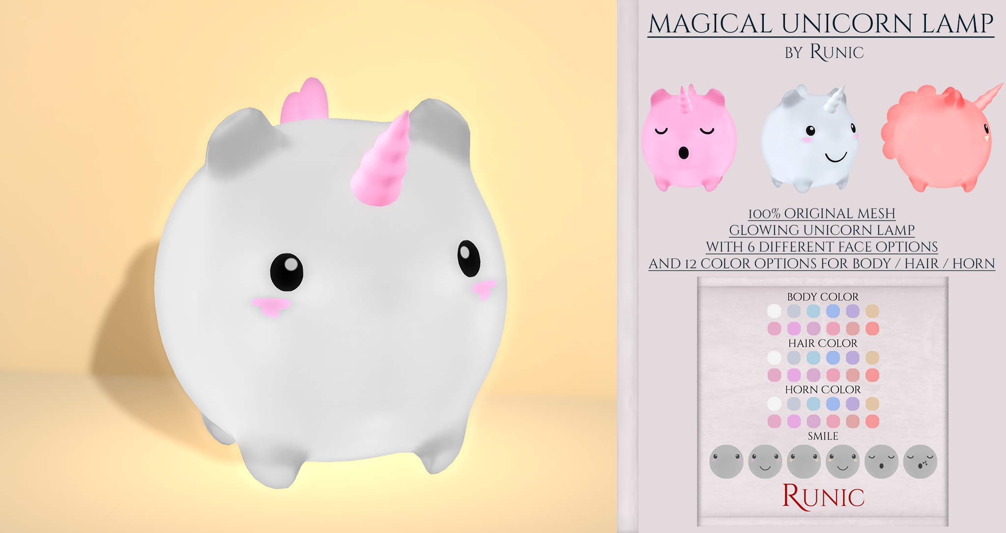 Runic - Magical Unicorn Lamp .png