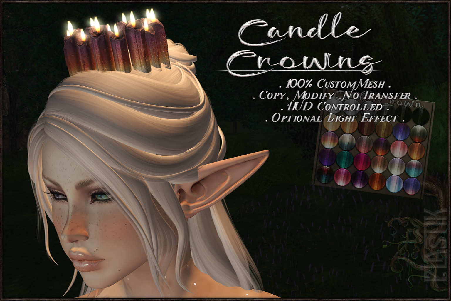 :[P]:- Candle Crowns