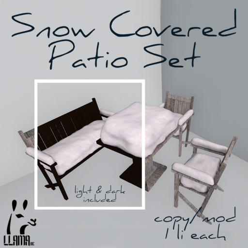 Llama Inc - Snow Covered Patio