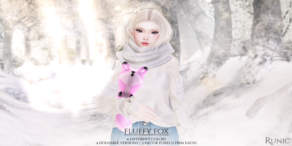 .: Runic :. Fluffy Snow Fox