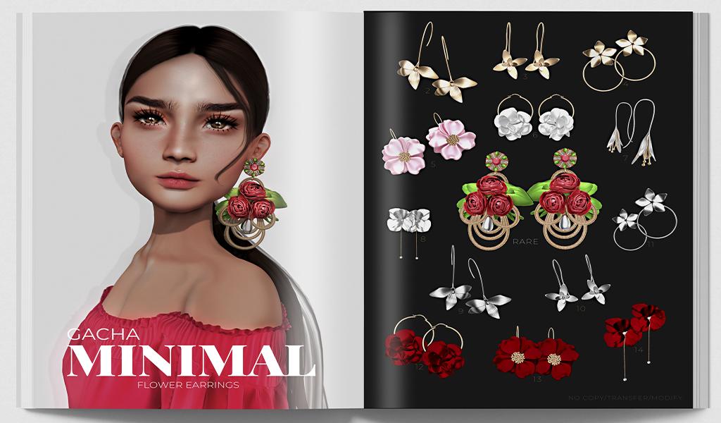 MINIMAL - Flower Earrings GachaSL.png