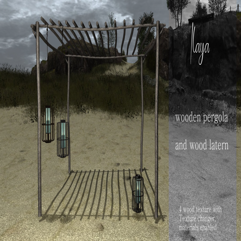 [ILAYA] Wooden Pergola and Wood Latern AD.png