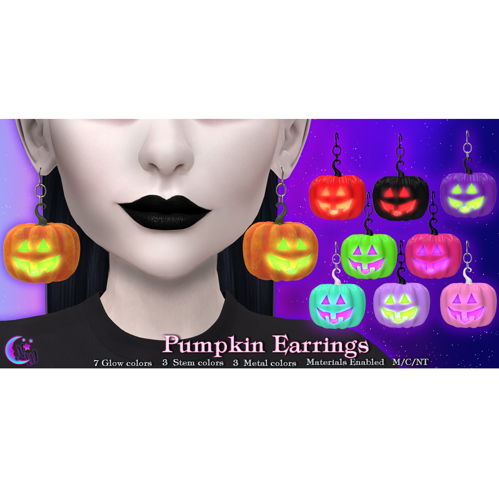 NeverWish - Pumpkin Earrings.png