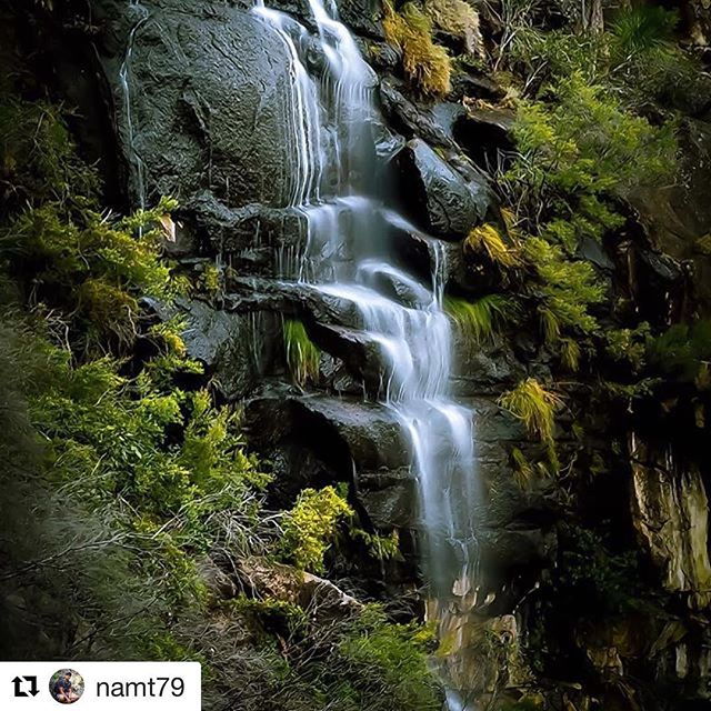 A waterfall in Mount Barney National Park in Queensland's Scenic Rim.  #mountbarneynationalpark #mtbarneynationalpark #mountbarneynp #mtbarneynp #nationalparks #nationalparksqld #queenslandnationalparks #waterfalls #nature #naturalqueensland #scenicrim #southeastqueensland  ###  Repost of @namt79 ・・・ Waterfalls of more remote parts of Mt Barney in vignette.  Well it was actually a mistake as I had the variable filter on to overlap . So I salvaged what I could 😂