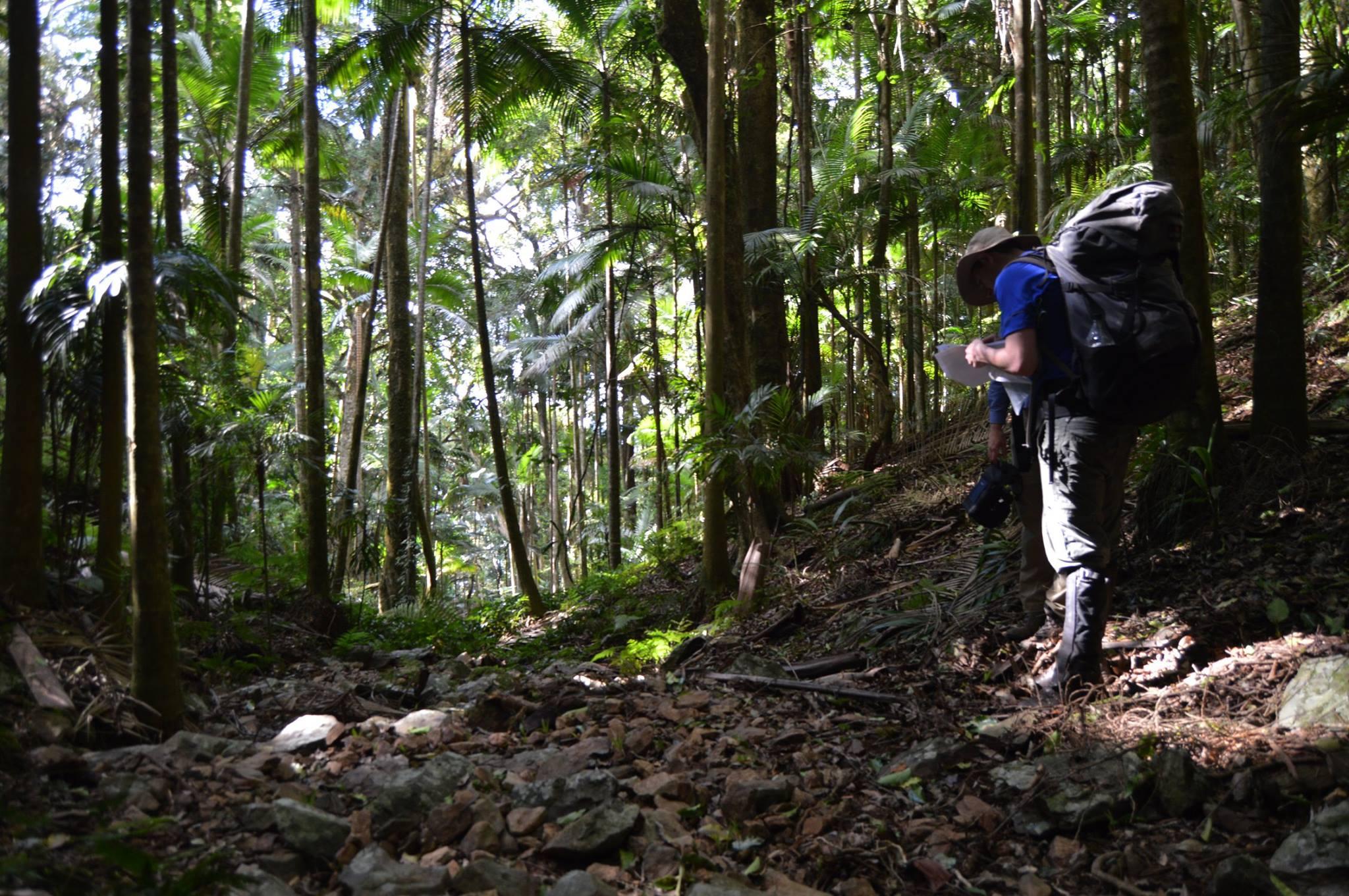 Navigating one of south east Queensland's few off track walks last year (Photo: Stuart Nicol)