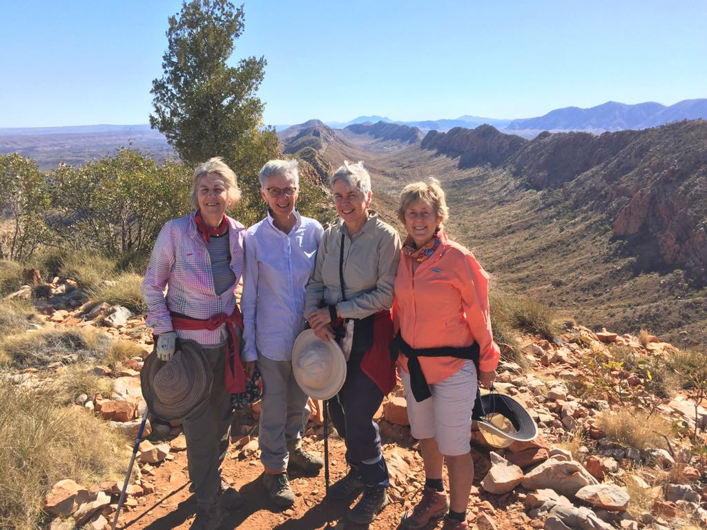 Some of the author's group enjoying the magnificent topography of the West McDonnell Ranges