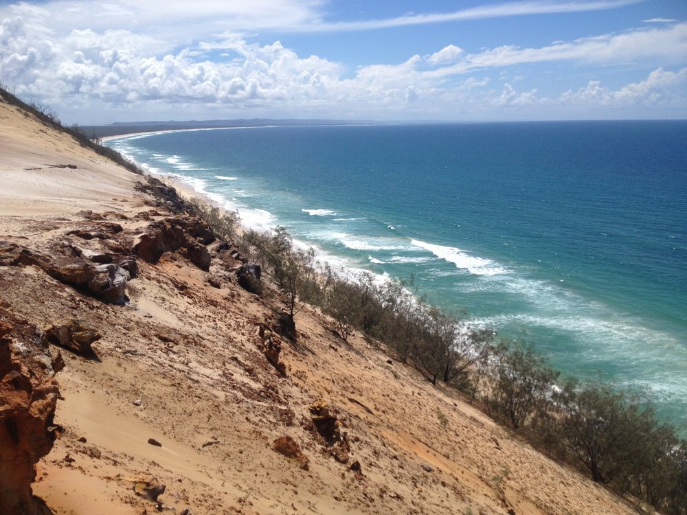 Cliff view during the Cooloola Great Walk