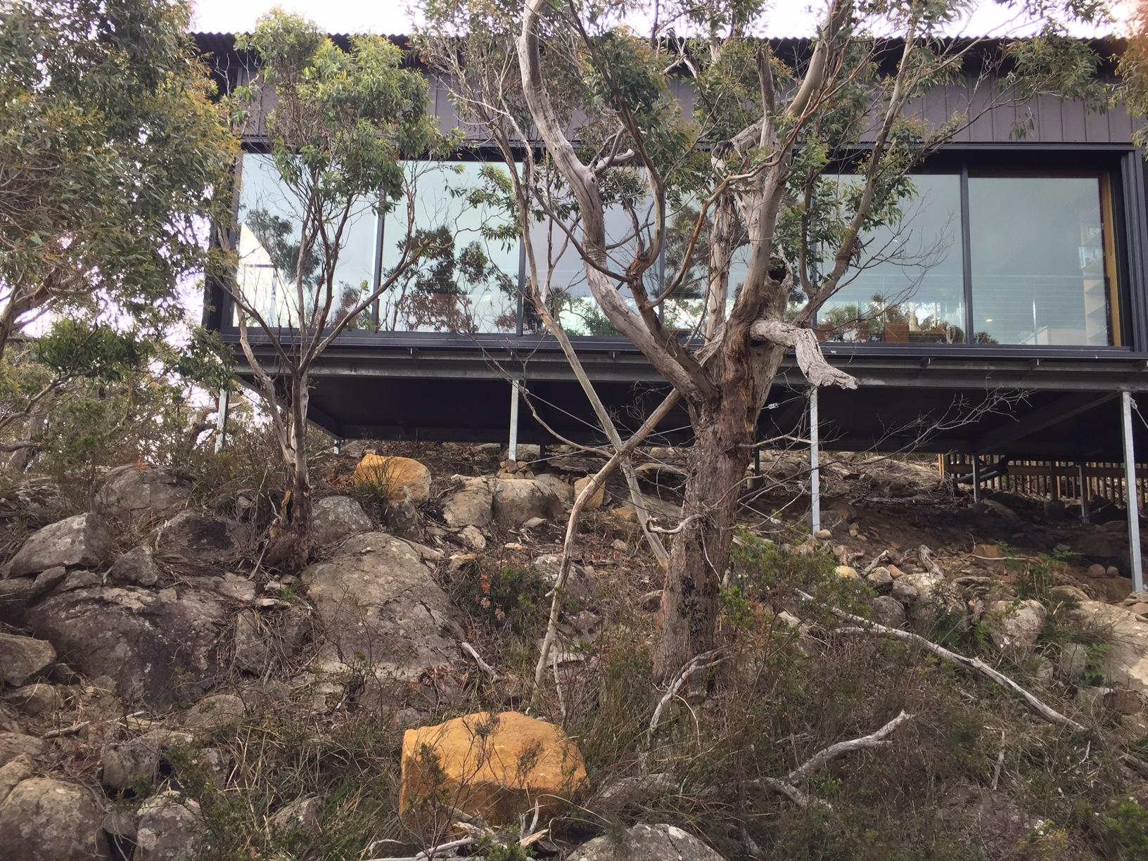 Private huts on the Three Capes Walk, Tasmania. Photo: S. Cooper.
