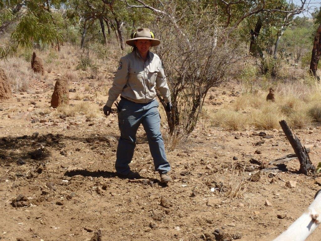 QPWS Ranger Carly Smith. Photo: Queensland Government.