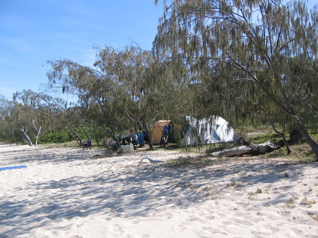 Camping in glorious solitude on Conical Island (in the Great Keppell group).