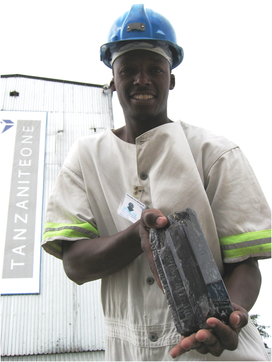 """Holding the worlds largest tanzanite crystal """"The Mawenzi"""" - named after the second highest peak on Kilimanjaro."""