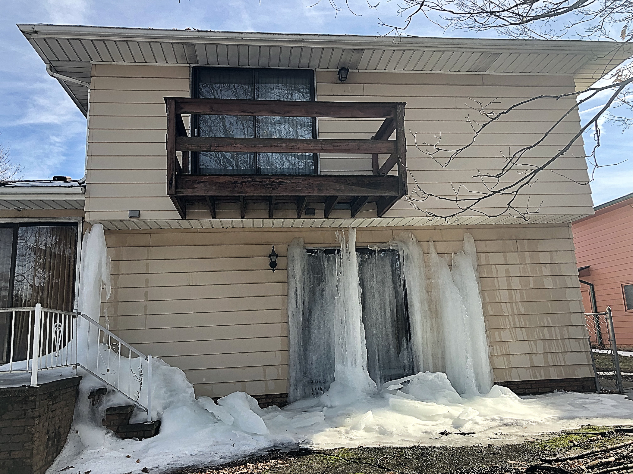 Rampant water intrusion ultimately sent the entire house into a deep freeze