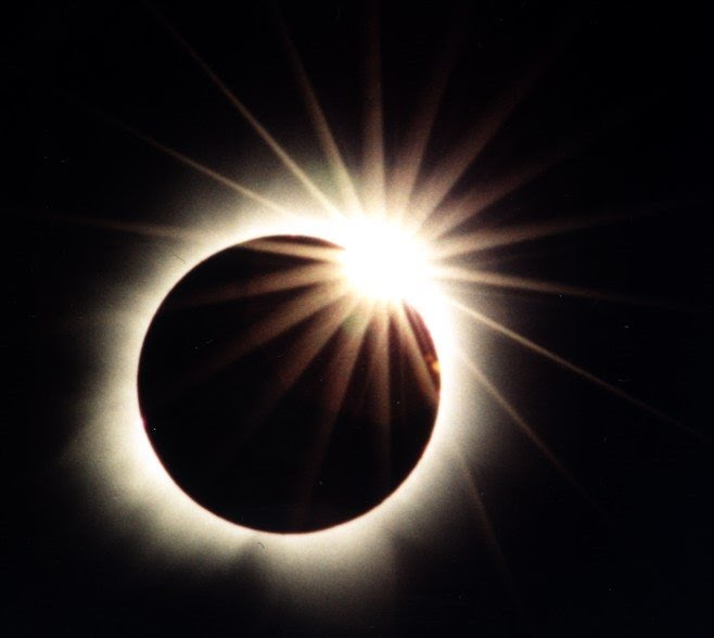 "The ""Diamond Ring"" Effect happens in the last few seconds before totality is achieved."