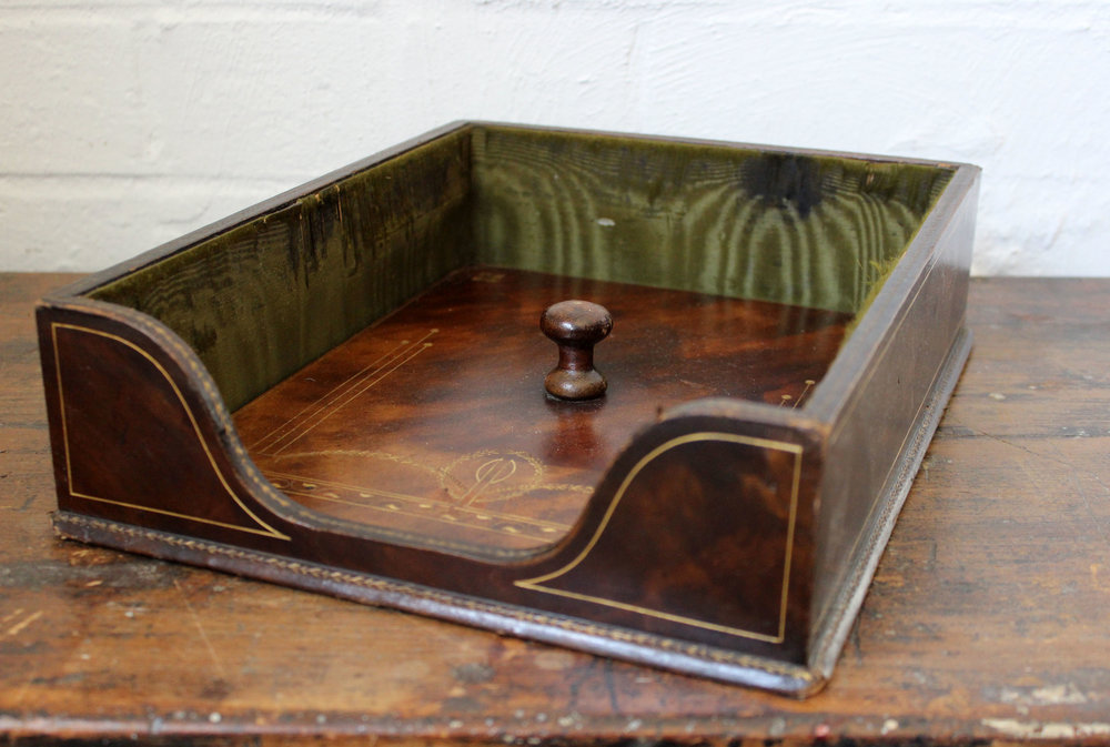 Leather Desk Tray