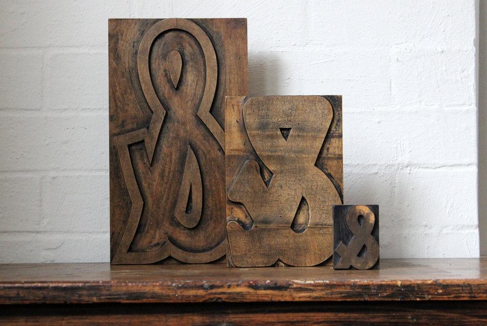 Wood Type Ampersands