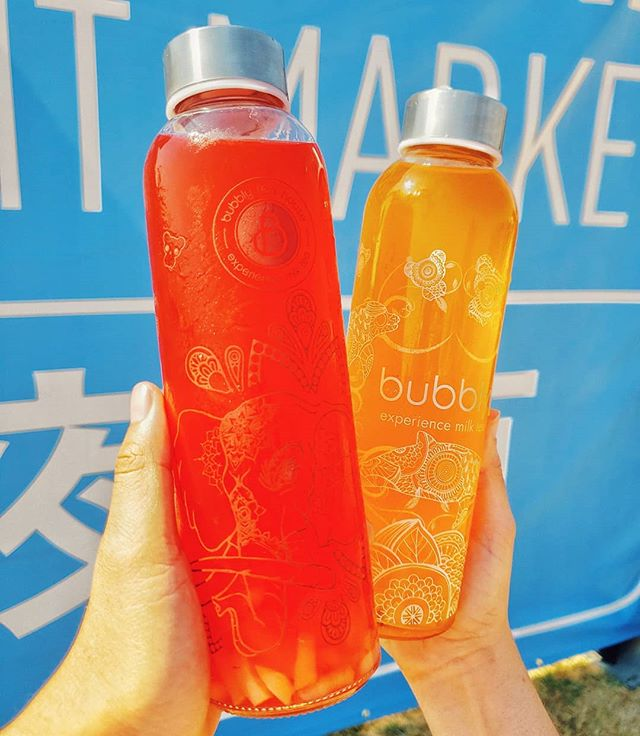 Who else was the @norcalnightmarket last weekend? I've read many reviews, and I would have to agree with them: it was a bit dusty, the lines were way too long for some food vendors (2 hours +), no shade or any eating areas. Hopefully their September event will be better.  However, my friend and I managed to snag these cute bottles from @bubblyteahouse! Since it was so hot last Saturday, we definitely needed some cold drinks!  #foodies #norcalnightmarket #nightmarket #boba #desserts #sweet #dontbehangry #werehangrytravelers #nomnom #feedfeed #bayarea #eastbay #southbay #milktea #lychee #foodphotography #foodbloggers #instagood #thehangrytravelers #drinks