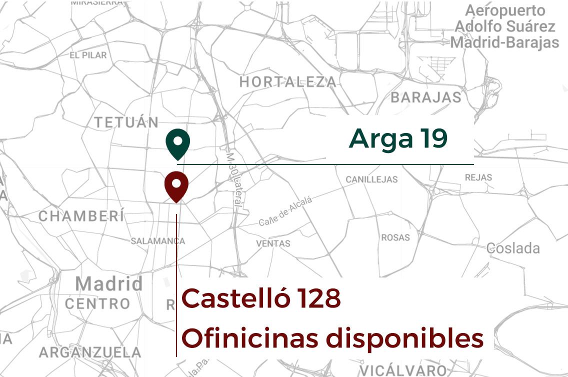 Mapa oficinas madrid