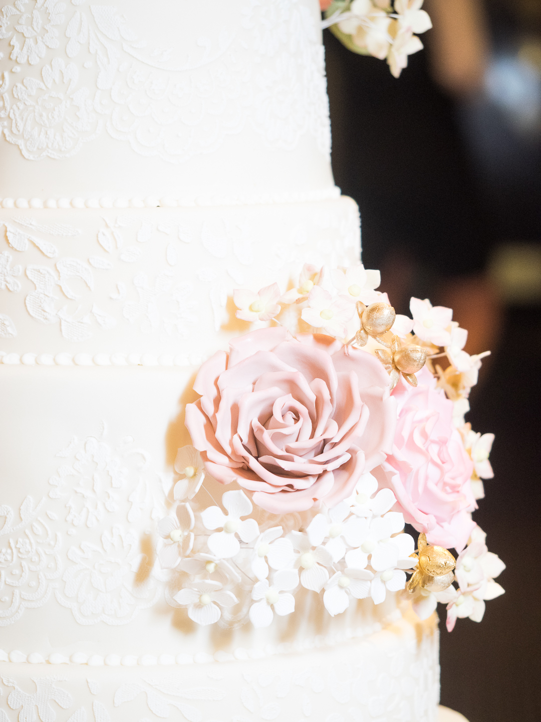 Sugar Flowers and Lace Wedding Cake Close Up.jpg
