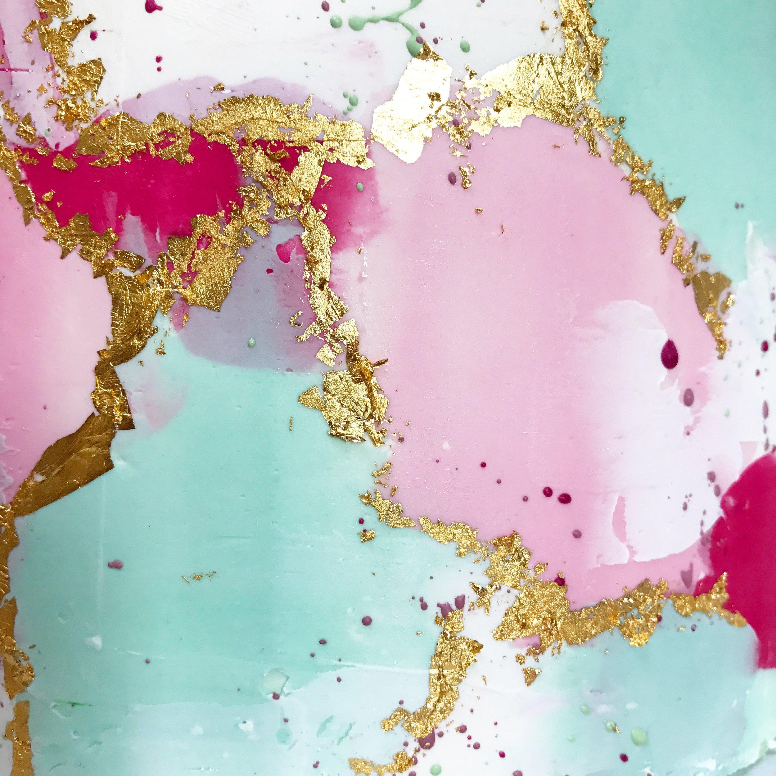 Mint, pink, gold buttercream.JPG