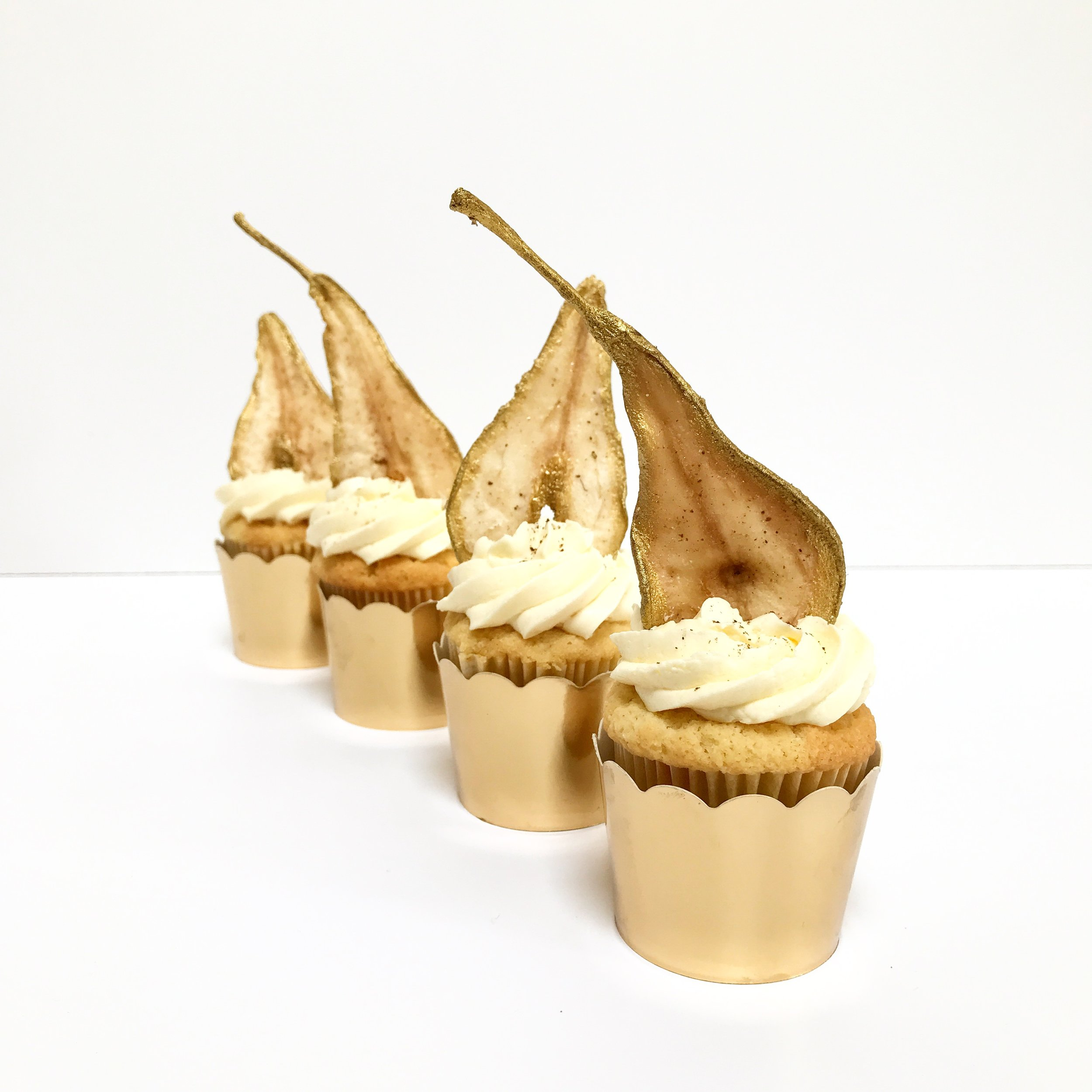 Pear, Vanilla Bean & Almond Cupcakes