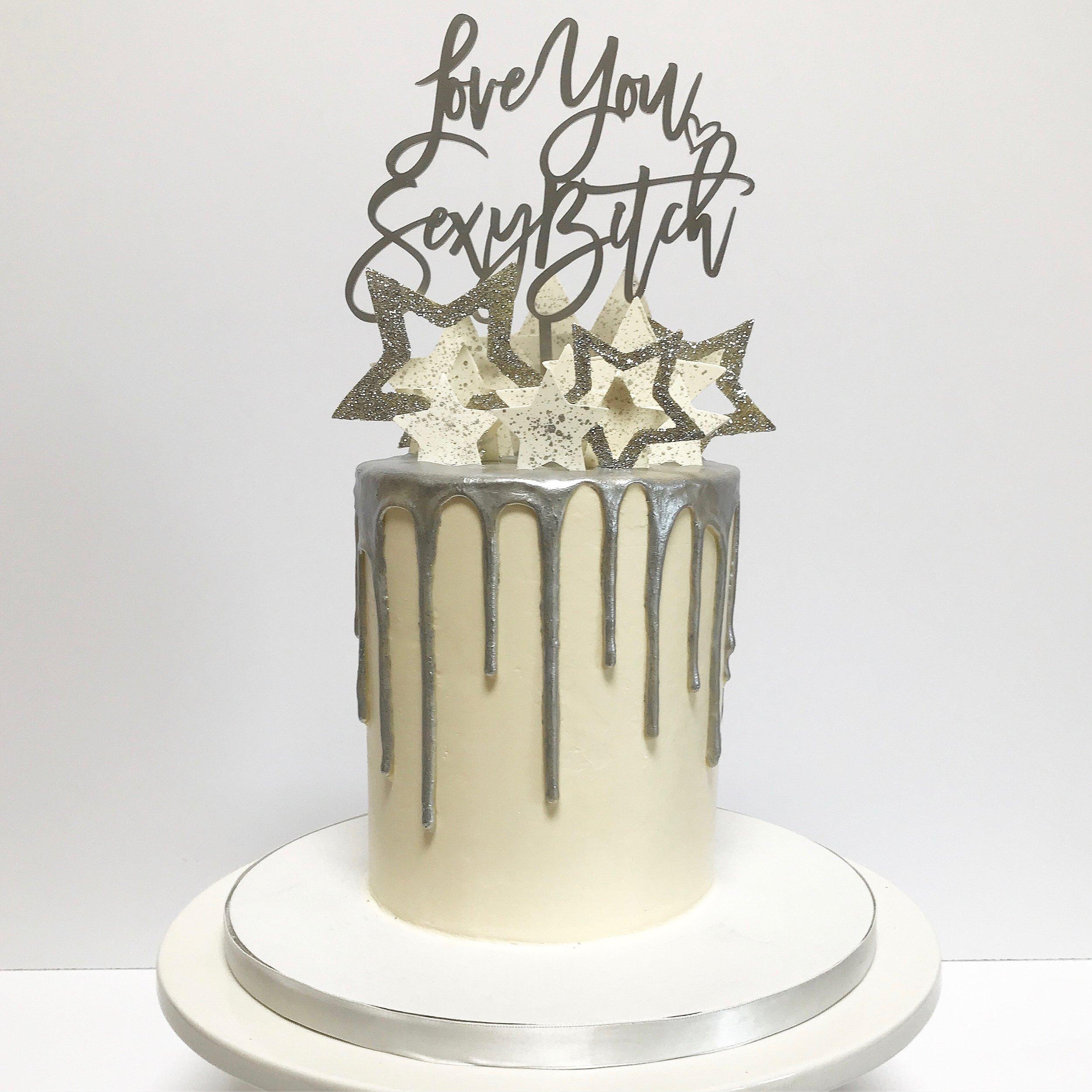 Silver Drip Cake
