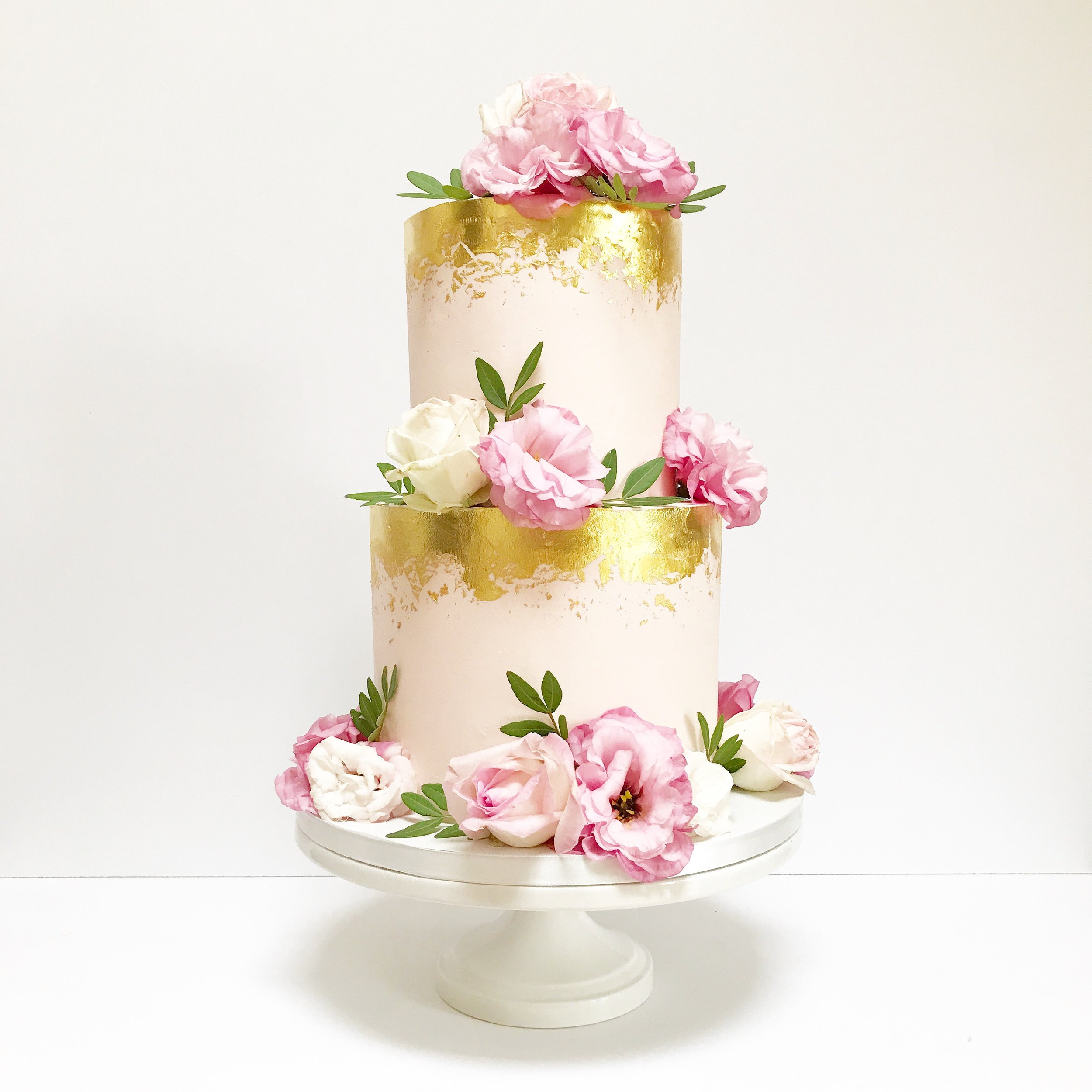 Pink and Gold Wedding Cake.JPG