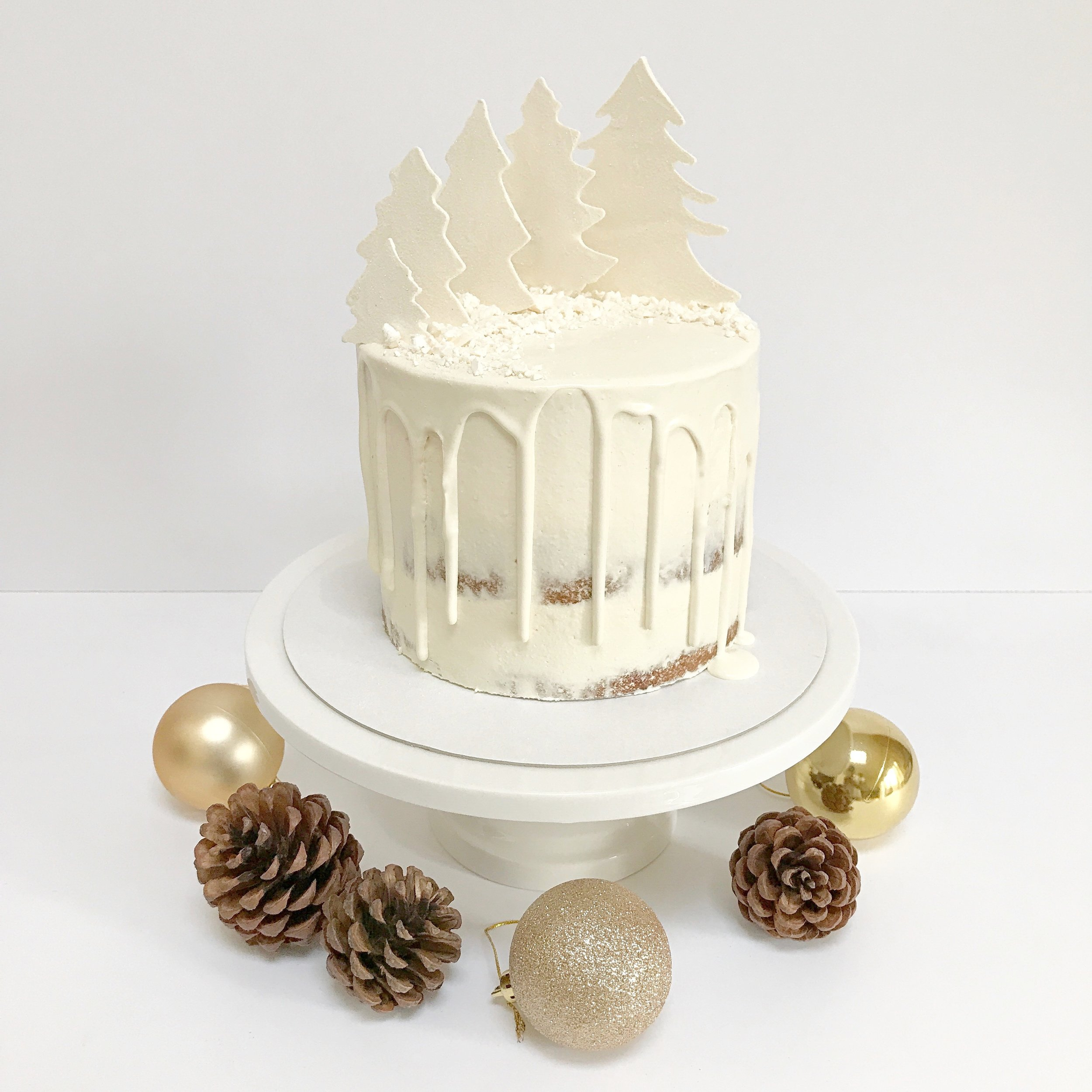 Winter Woodland drip cake.JPG