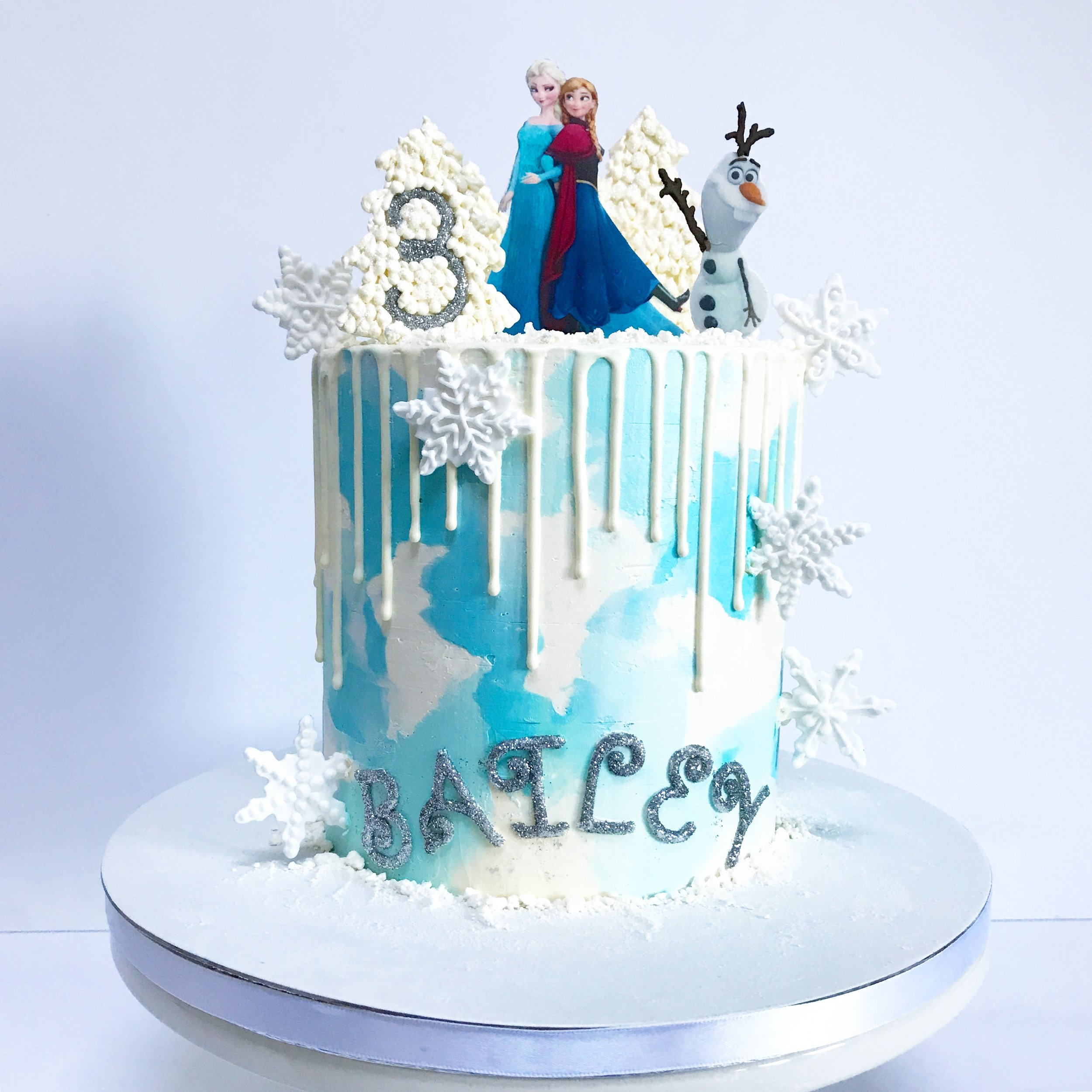 Frozen 3rd Birthday Cake.JPG