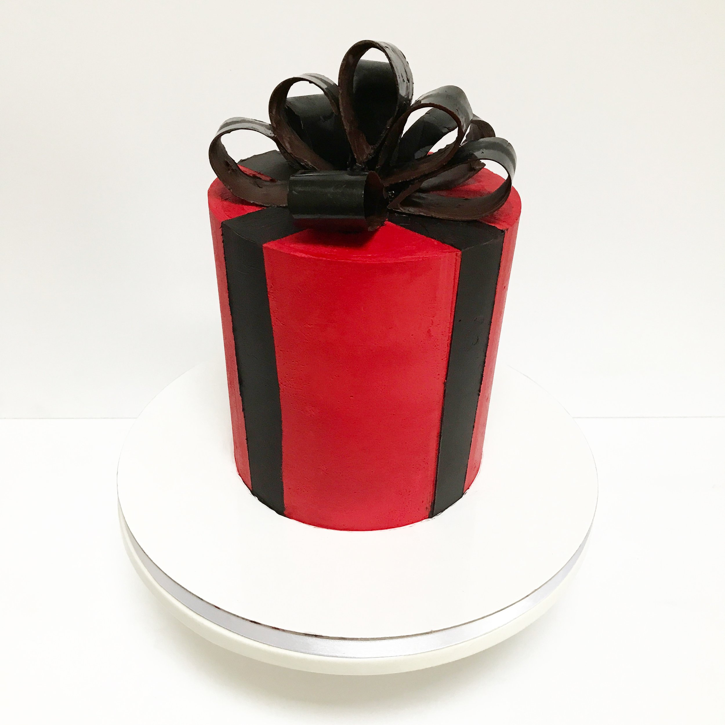 Red Gift Buttercream Cake.JPG