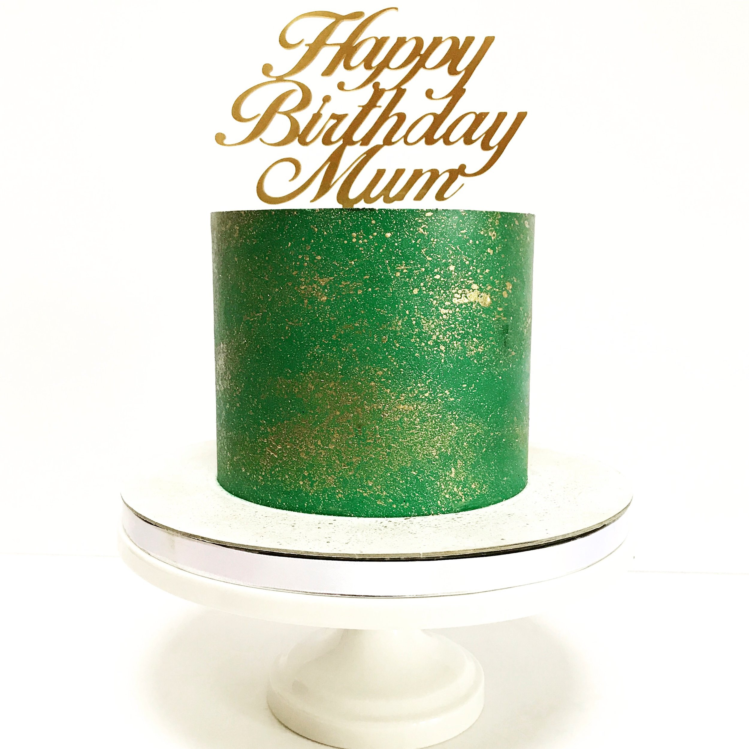 Emerald and Gold Buttercream Cake.JPG