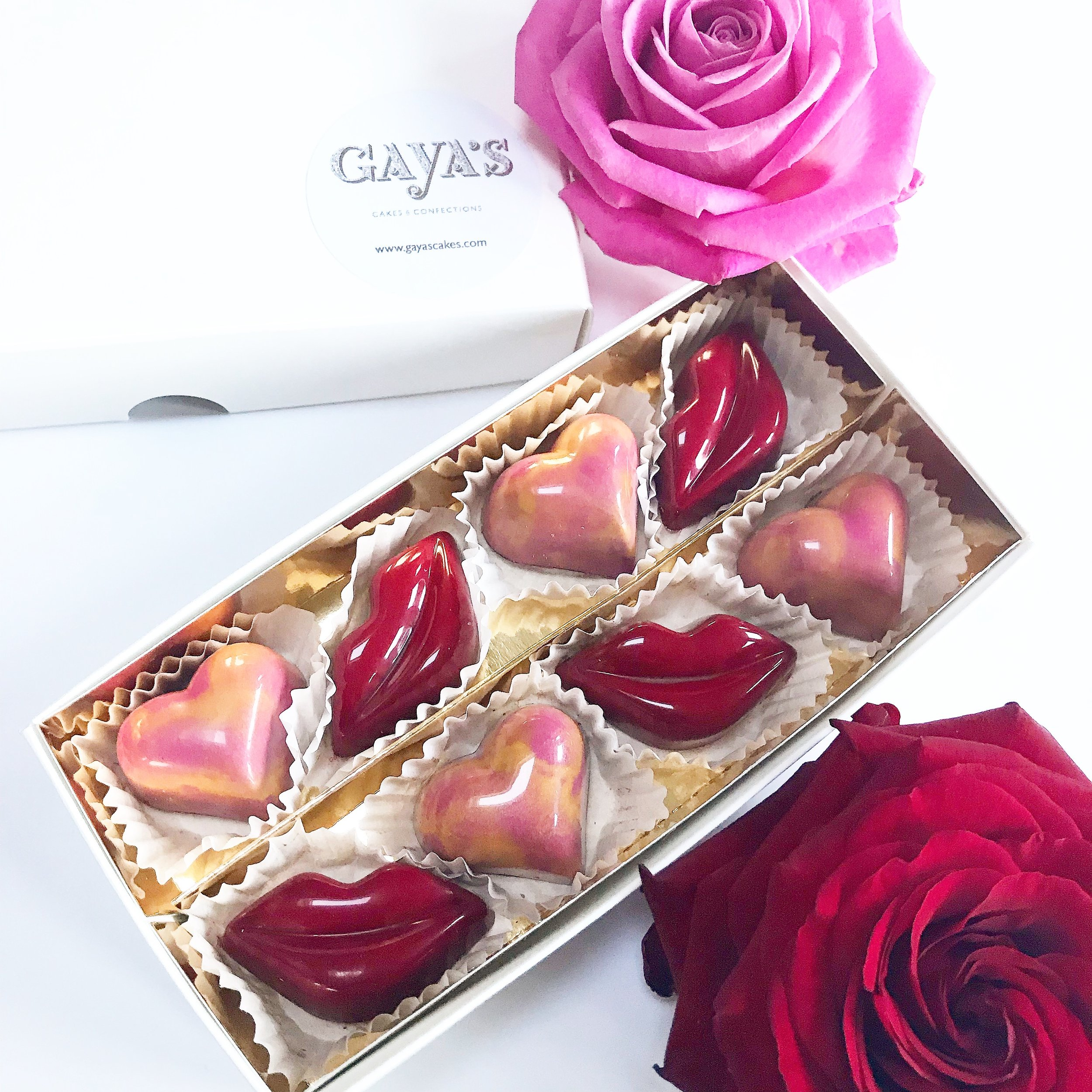 Alcohol free Valentine's Chocolate Bonbons -