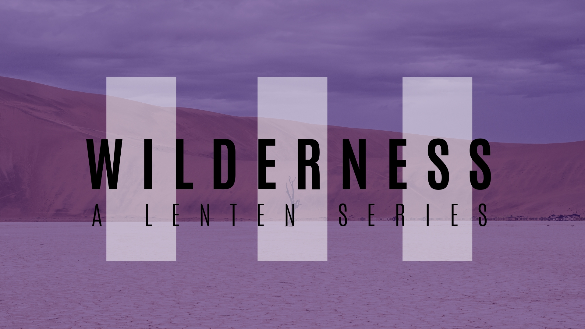 WILDERNESS: A JOURNEY THROUGH LENT - Dive into Jesus' forty days of testing in the wilderness and engage the season of Lent with us!