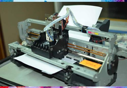 Máy in chữ nổi hoàn thành và sắp sửa sang Nhật dự triển lãm - Ảnh: NVCC