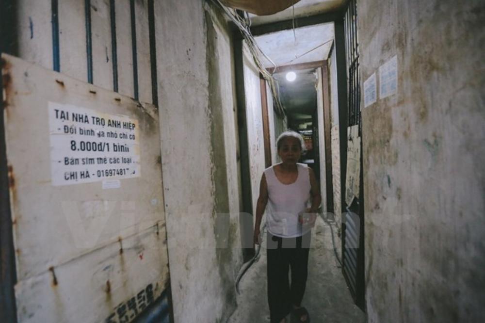 Gần chục năm đi vào hoạt động, khu nhà trọ giá rẻ của ông Hiệp đã và sẽ luôn là điểm đến đầy tình thương, nhân ái dành cho những người lao động nghèo. (Ảnh: Minh Sơn/Vietnam+)
