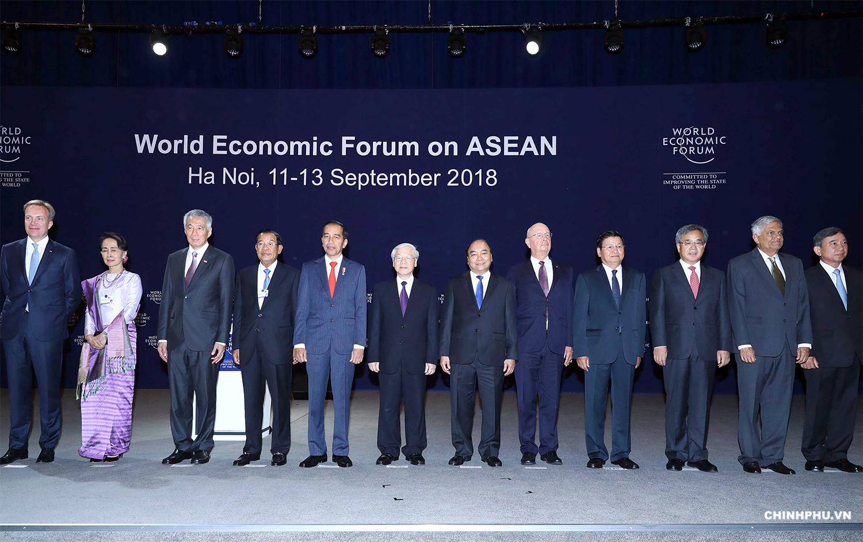 Các đại biểu dự Hội nghị WEF ASEAN 2018. Ảnh: VGP/Quang Hiếu .