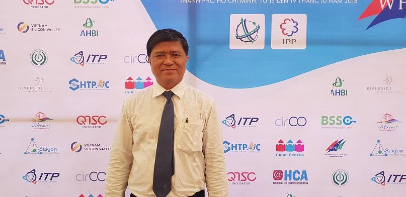 Ông Nguyễn Văn Hiếu, Phó Giám đốc Sở Giáo dục và Đào tạo (GD&ĐT) TP.HCM tại Tuần Lễ ĐMST và Khởi nghiệp TP.HCM (Whise) năm 2018.