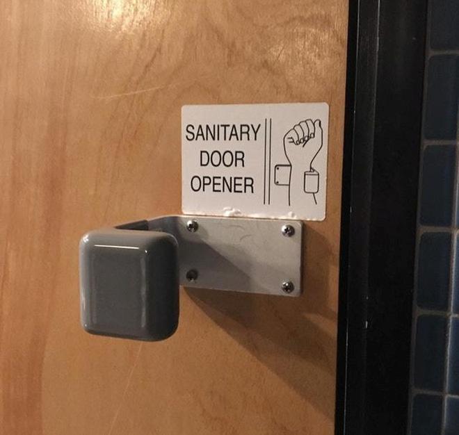 Tay nắm cửa để mở bằng cổ tay, sạch sẽ, tiện lợi, tránh lây bệnh từ người khác