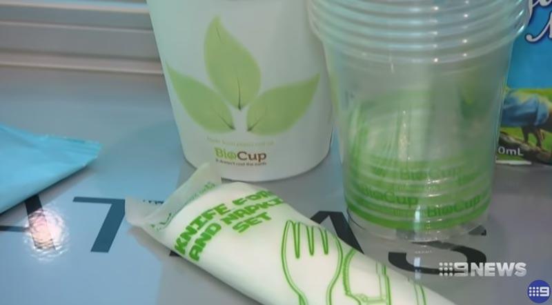 Các sản phẩm tái chế được sử dụng trên chuyến bay này.