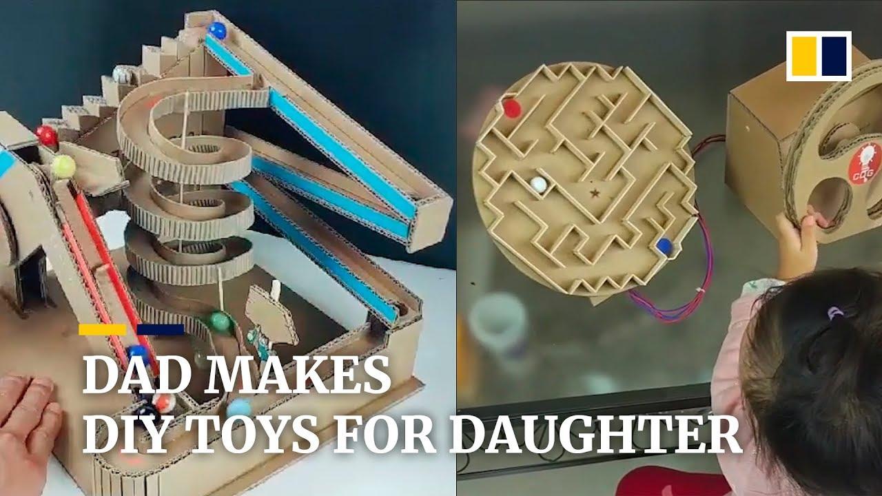 Những món đồ chơi độc đáo mà ông bố này làm cho con gái.